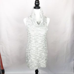RW & CO Grey cowl neck knitted tunic